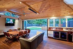Oakleigh Melbourne Sunroom Extension - Feature Ceiling