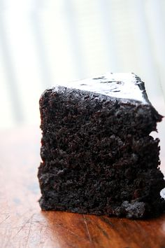 Double Chocolate Cake with Black Velvet Icing