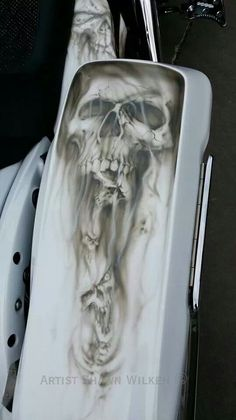 Airbrushed bagger motorcycle