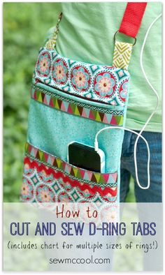 Diy Crafts Ideas : How to sew ring tabs for straps.