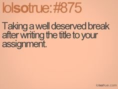 Uni assignments