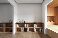 air studio's multiple-in-one spaces prototype complete residence in taiwan Sequence Photography, Good Environment, Taiwan, Architectural Models, Architectural Drawings, House Design, Shelves, Spaces, Interior Design
