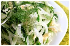 Have a look at this great recipe for Cucumber and Fennel Tumble. Cucumber Recipes, White Wine Vinegar, Vegetarian Cheese, Kitchen Recipes, Fennel, Lunches, Feta, Great Recipes, Cabbage