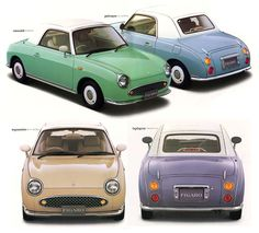 Nissan Figaro 1991 -  - -There were four colors, and each was supposed to represent a season. The options included Emerald Green (spring), Pale Aqua (summer), Topaz Mist (fall), and Lapis Grey (winter).