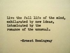 ERNEST HEMINGWAY Quote Hand Typed Quote Made by PoetryBoutique