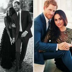 Boa tarde com duas das fotos oficiais do noivado do Príncipe Harry com Meghan Markle. O casório super esperado está marcado para maio do ano que vem.❤️💍 #beautiful #meghanmarkle #princeharry #official #engagement #photos #december2017