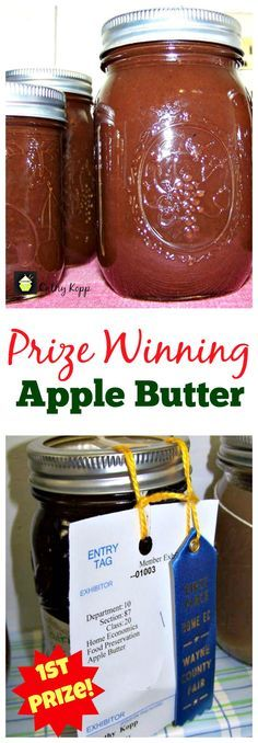 Goes great with sweet or savo… Prize Winning Apple Butter -Easy Crock Pot Recipe. Goes great with sweet or savory dishes. You choose! Jelly Recipes, Jam Recipes, Canning Recipes, Cooker Recipes, Crockpot Recipes, Canning Tips, Recipies, Canning Apples, Great Recipes