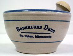 Custom Soderlund Drug Motar made by the Redwing Pottery company