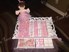 "Tray Decoration For Baby Girl Cool Keepsake Favor Box That Also Doubles As A ""tray"" For Favors  Baby Design Decoration"