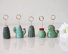 Cactus ring holder Cactus decor Clay cactus by paintmydream