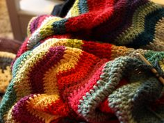 Love the colours of this Ripple blanket