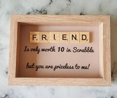 67 best Ideas for birthday card diy friend creative etsy Scrabble Letter Crafts, Scrabble Tile Crafts, Scrabble Art, Scrabble Letters, Scrabble Pieces Crafts, Crafts To Make, Fun Crafts, In Loco, Diy Cadeau