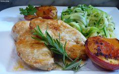 fischi`s cooking and more....: gebratenes hühnerfilet mit zucchini - gnocci