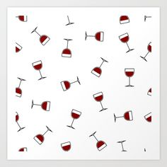 Wine not? Illustration by me. Check out the available products!