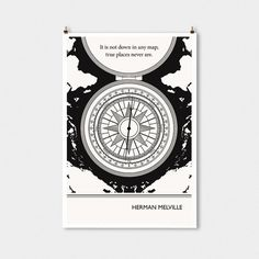 Literary Art Prints Melville Travel Quote by ObviousState on Etsy