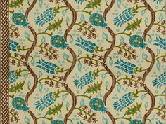 Brunschwig & Fils NISIOTIKO LINEN PRINT TAUPE/AQUA BR-700019.073 - Brunschwig & Fils - Bethpage, NY, BR-700019.073,Brunschwig & Fils,Print,Beige,S,Softened,UFAC Class 2,Up The Bolt,BR-700019,Ikat/Southwest/Kilims,Multipurpose,USA,Yes,Brunschwig & Fils,Les Alizés,NISIOTIKO LINEN PRINT TAUPE/AQUA