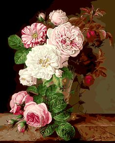 Acrylic Paint By Numbers Kit Canvas 50*40cm 8006 Glorious Roses