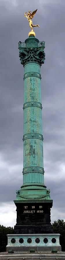 The Colonne de Juillet (July Column) commemorating the Revolution of 1830 in the center of the Place de la Bastille, Paris by Andrew Fare.