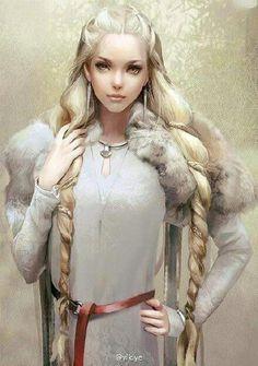 Female Human Half Elf Warrior Cleric