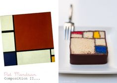 Piet Mondrian cake! The Master would be proud......