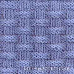 I love simple patterns made of knits and purls - Basket (Wicker) Stitch Pattern knitting pattern chart, Squares, Diamonds, Basket Stitch Patterns Discussion on LiveInternet - Russian Service Online diary - DIY Fashion Pictures This is the easiest baby bl Knitting Stiches, Knitting Charts, Easy Knitting, Baby Knitting Patterns, Loom Knitting, Crochet Stitches, Stitch Patterns, Crochet Patterns, Knitting Squares