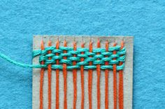 weaving with embroidery floss