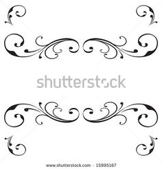 Vector scroll banner design with flourish ornament by Jennifer Johnson, BlueCherry Graphics, via ShutterStock