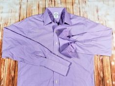 #BrooksBrothers Mens #SlimFit Non-Iron #FrenchCuff #ButtonUp #DressShirt 15.5 34