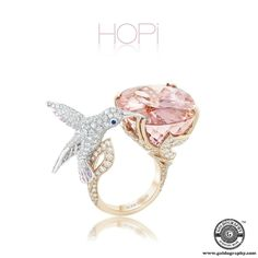 Hopi #Boucheron #18K #WhiteGold #RoseGold #HummingBird #Ring #Morganite #PinkSapphires #BlueSapphires #Diamonds #Gemstones #Trendy #Style #Fashion #Fashionista #Luxury #JewelryAddict #JewelryLover #Jewelry #Jewellery