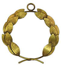 """""""The laurel wreath has been given to great scholars, artists, soldiers, Roman emperors and victorious athletes, since the times of Ancient Greeks. Its use originated with the Pythian Games, a Panhellenic festival in honor of Apollo. The laurel tree had been part of the mythology around the god Apollo from the famous story of his pursuit of Daphne."""""""