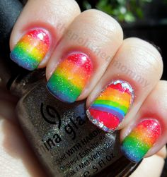 San Fransisco Pride day nails