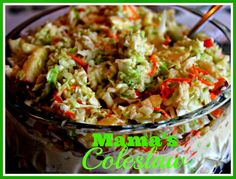 Sweet Tea and Cornbread: Mama's Coleslaw!
