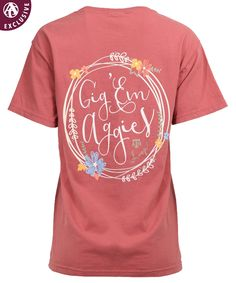 8f26c396c Texas A&M Floral Circle Gig 'Em T-Shirt