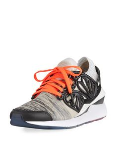 Pearl+Lace-Up+Cage+Fade+Sneaker,+Black/White+by+Puma+at+Bergdorf+Goodman.