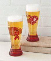 Firefighter 22oz Pilsner Beer Glasses - Set of 2