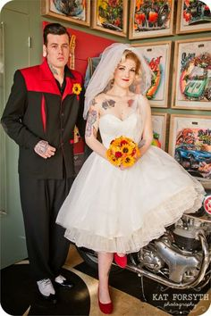 Cry Baby {A Rockabilly Wedding shoot at Ace Cafe}