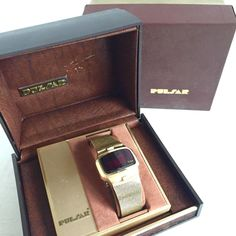 Vintage Pulsar Men's Dress Watch LED Digital Computer 14KGF with box. As-found. #Pulsar #DressFormal