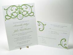 Custom wedding invitations Italian Gate. $12.00, via Etsy.