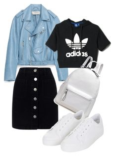 """Untitled #37"" by missophiehopper on Polyvore featuring Jakke, Miss Selfridge, adidas and Topshop"