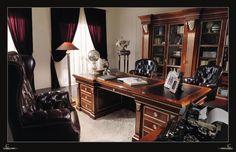 Luxusní nábytek do pracovny z masivní dřeva od Ceppi Style, více na: http://www.saloncardinal.com/galerie-ceppi-style-ec7
