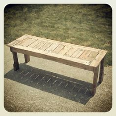 my pallet bench!