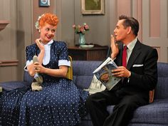Lucille Ball & Desi Arnaz as Lucy & Ricky Riccardo in 'I Love Lucy'