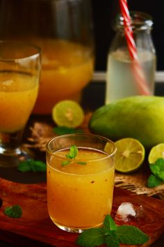 aam panna recipe - tasty, healthy and refreshing summer drink with raw mango I Love Food, Good Food, Yummy Food, Aam Panna Recipe, Mango Drinks, Mango Pulp, Shake, Refreshing Summer Drinks, Asian Desserts