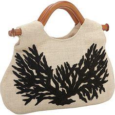 #BestPrice, #Black, #FabricHandbags, #Handbags, #Ivory, #RetailPrice, #Tote, #WoodHandleTote