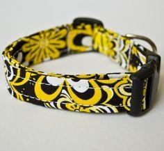 Summer Daisies Handmade Dog Collar