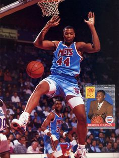 Derrick Coleman, who played for the New Jersey Nets from 1990 to 1994.
