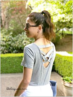 Stitch Fix Andrew Marc Performance Kayleigh Back Detail Knit Top White Skinnies, Her Cut, Stitch Fix Outfits, Andrew Marc, Gift Card Giveaway, Floral Shorts, Pattern Mixing, To My Daughter, Spring Fashion