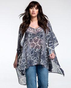 Αμάνικη μπλούζα με paisley μοτίβα — mat. XXL sizes