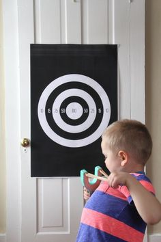 DIY slingshot with felt ball ammo + target download | And We Play.