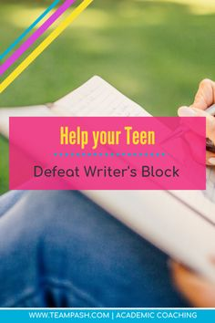 How to Stop Writers Block in 6 Steps — Team Pasch Academic Coaching - Writer's block can stall even the best writers. If your teen struggles with writing, writer's b - Note Taking Strategies, Note Taking Tips, Teaching Strategies, School Planner, School Schedule, School Tips, School Motivation, Study Motivation, Senior Year Of High School